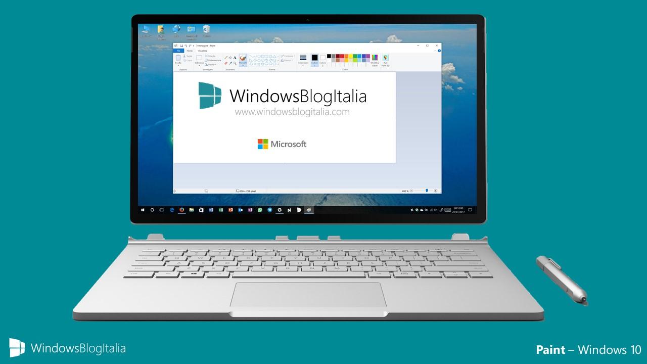 Microsoft non rimuoverà il programma desktop di Paint in Windows 10