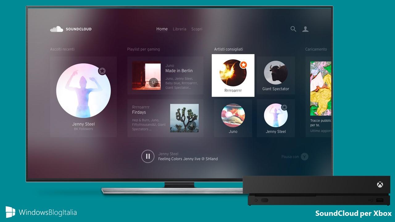 SoundCloud per Xbox