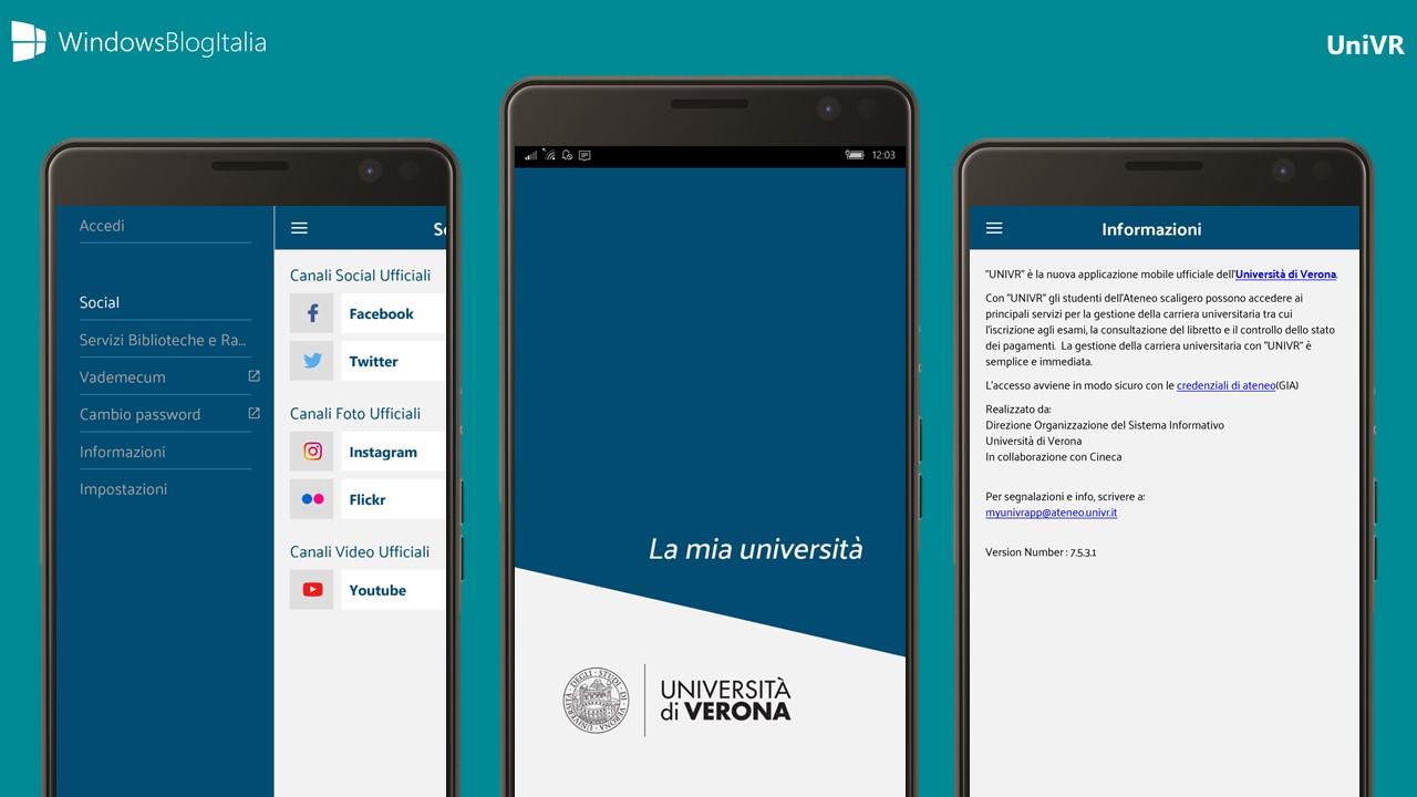 Univr Calendario.Univr L App Dell Universita Di Verona Per Windows Android