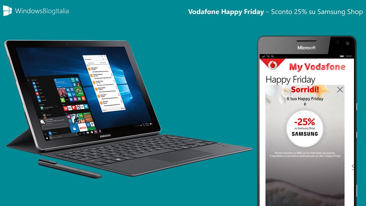 Samsung Galaxy Book scontato a 660€ con Vodafone Happy Friday