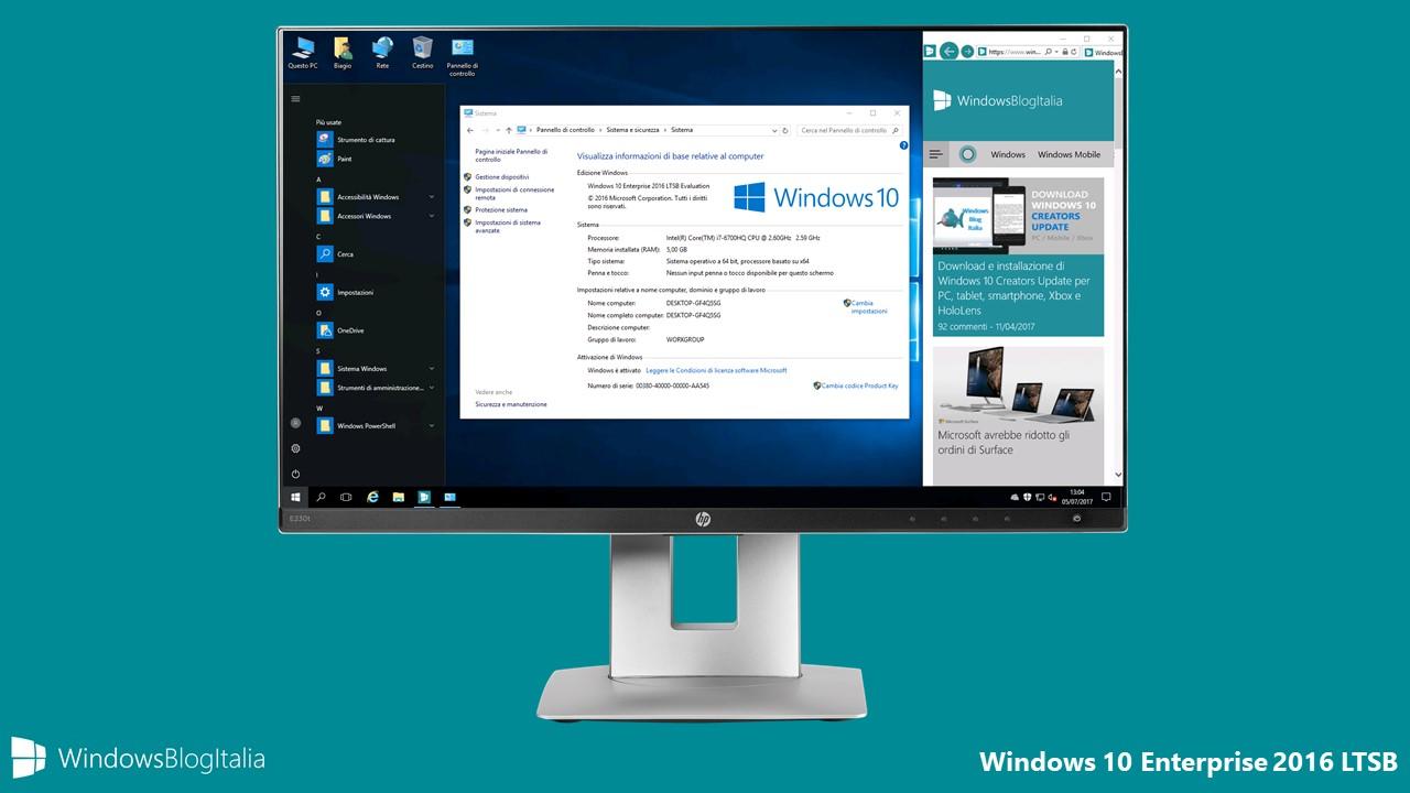 Download Windows 10 Enterprise 2016 LTSB