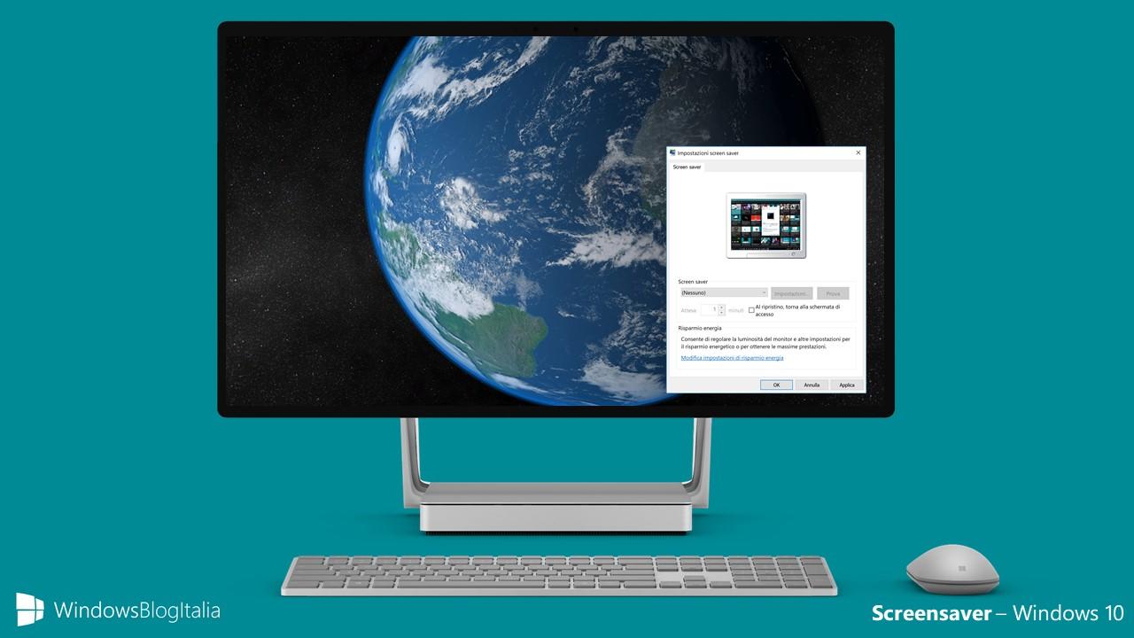 Simulare gli screensaver in Windows 10