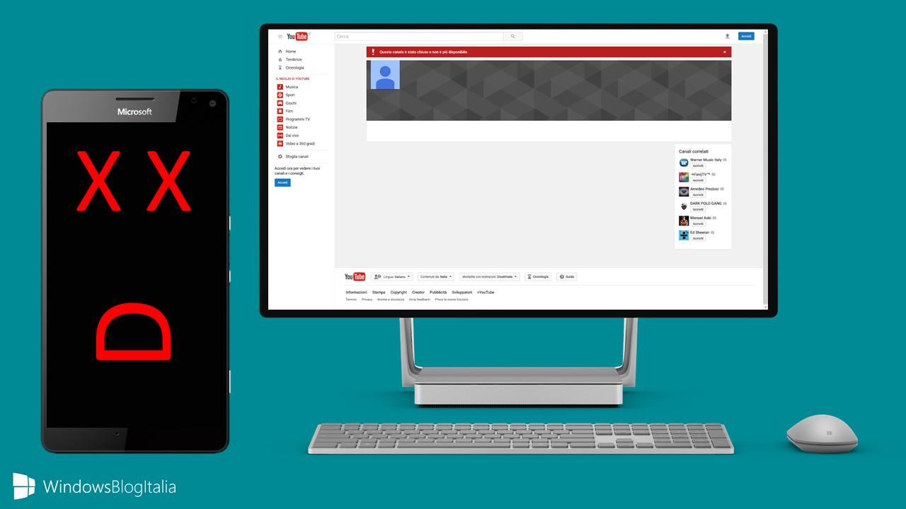 Addio al canale Lumia su YouTube