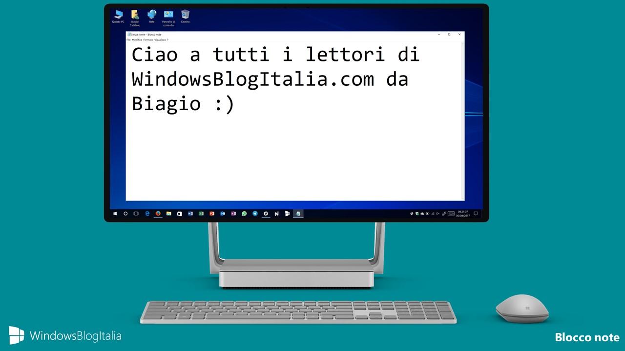 Blocco note - Windows Store e Windows 10
