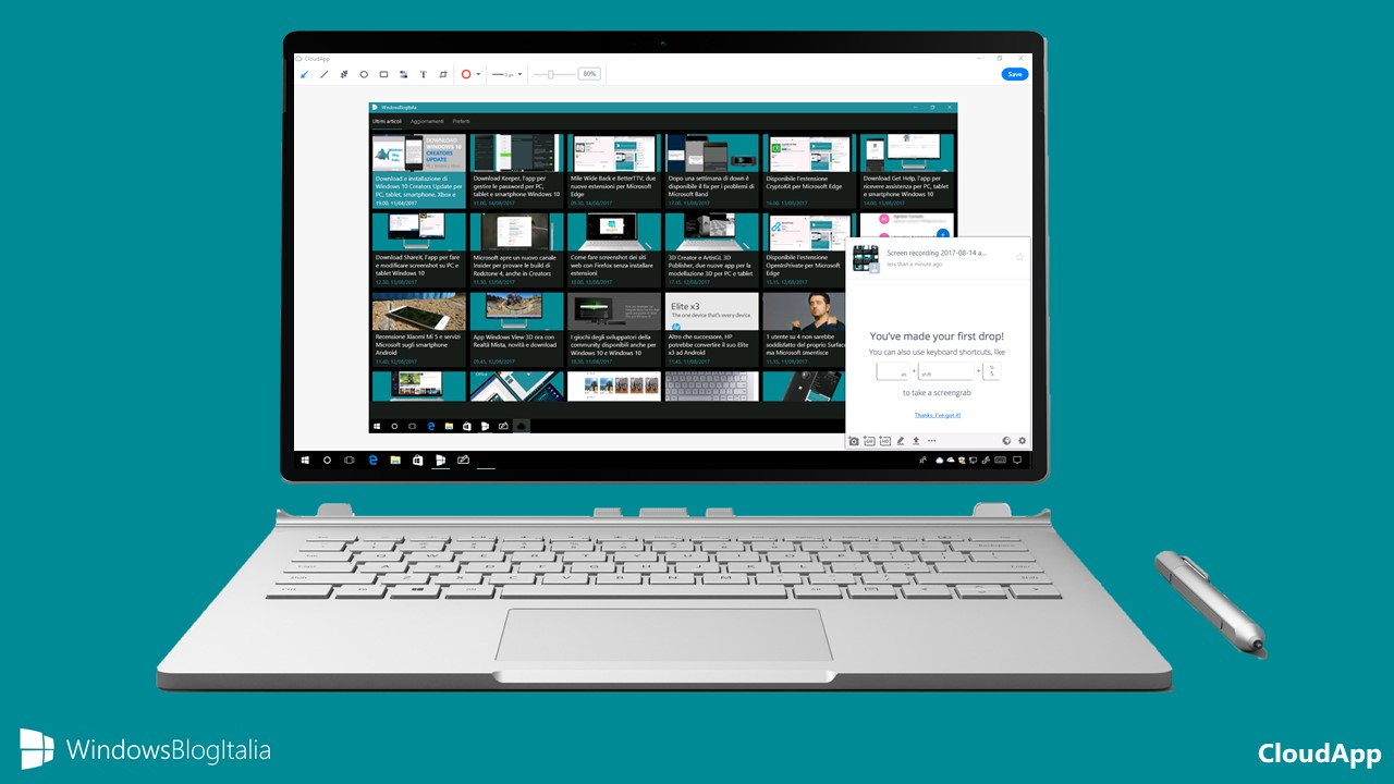 Download CloudApp, il tool per creare e modificare GIF per PC e tablet Windows 10
