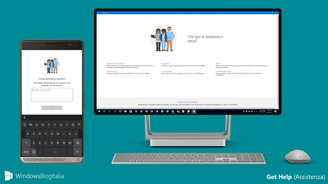 Get Help, l'app per ricevere assistenza per PC, tablet e smartphone Windows 10