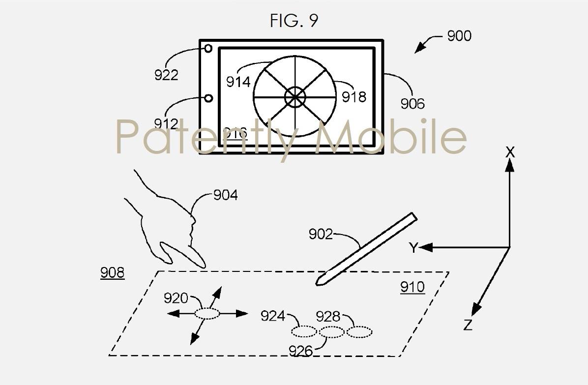 Microsoft Surface brevetto fotocamera 3D interazioni