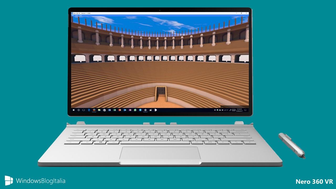 Nero 360 VR, l'app per visualizzare le immagini panoramiche in Windows 10