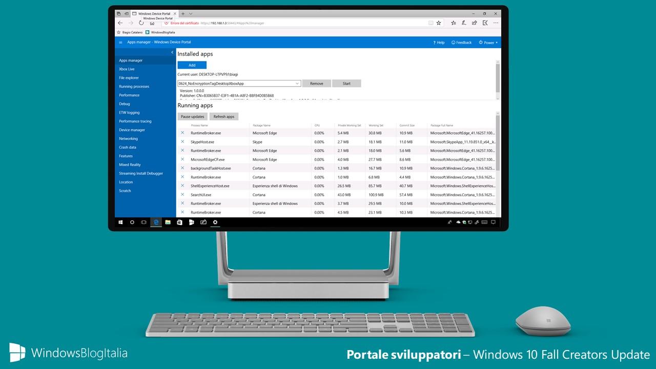 Il Portale Sviluppatori si arricchisce di nuove funzionalità in Windows 10 Fall Creators Update