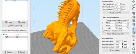 Posizionamento modello in Simplify3D
