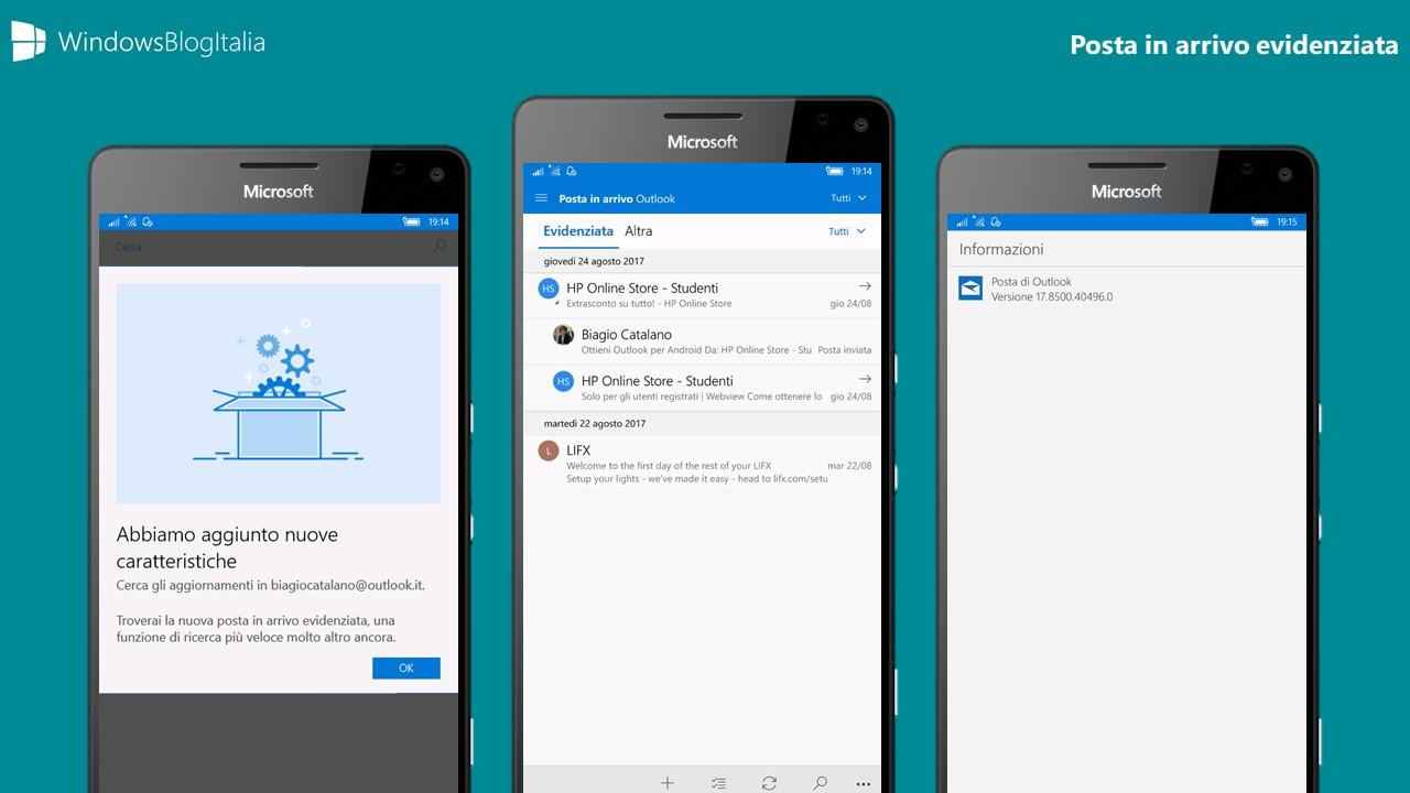 La Posta evidenziata fa la sua comparsa nell'app di Windows 10 Mobile