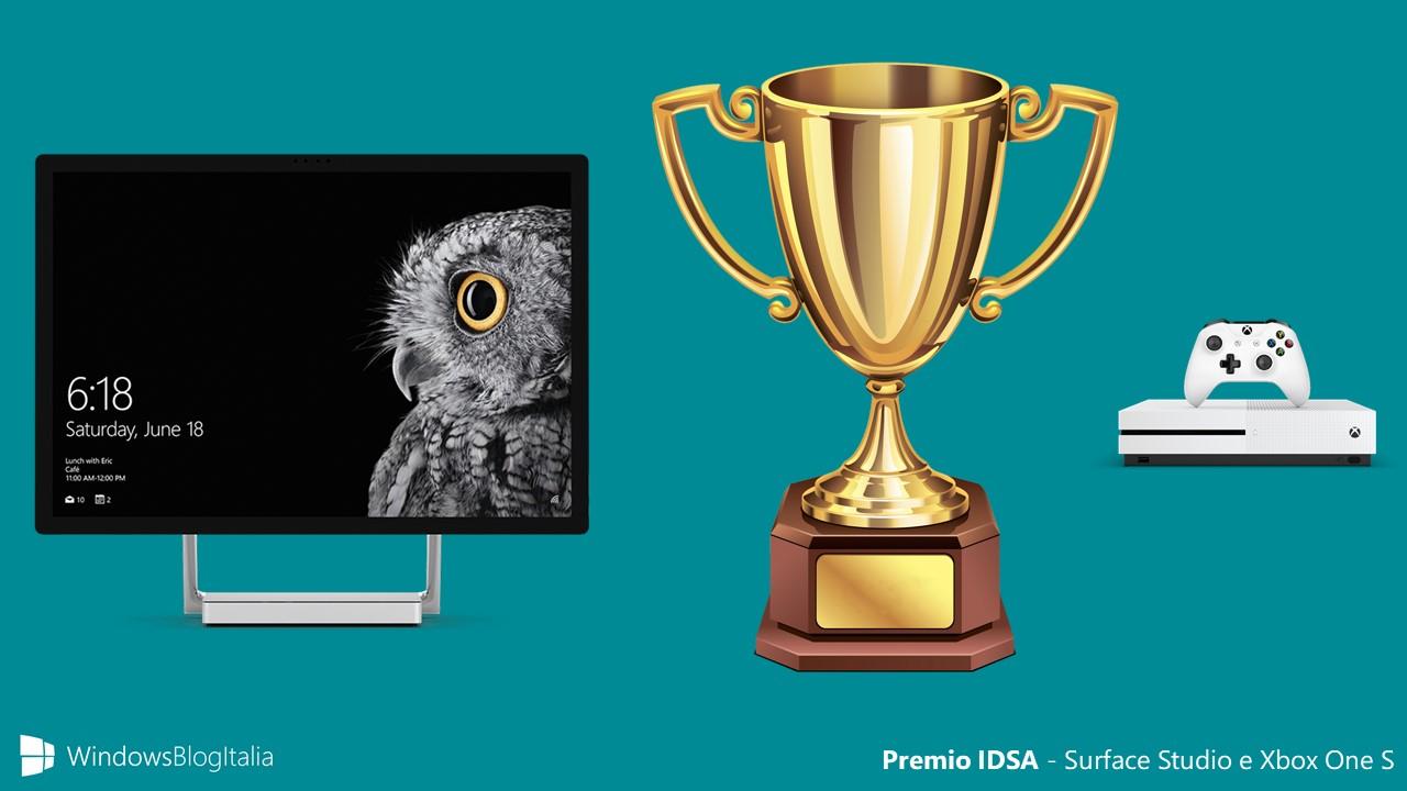 Surface Studio e Xbox One S vincono i premi IDSA per il loro design