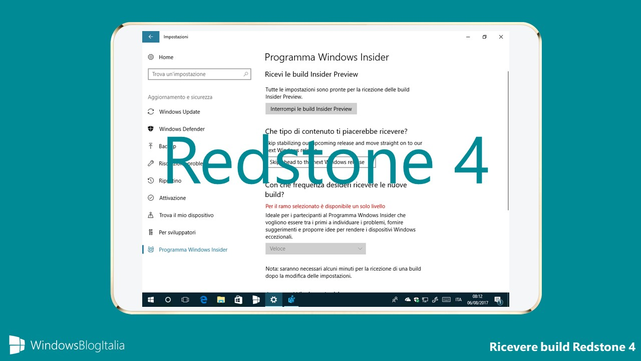 Come provare le build di Windows 10 Redstone 4