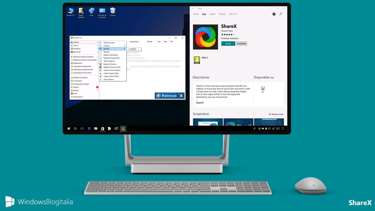 Download ShareX, l'app per eseguire e modificare screenshot per PC e tablet Windows 10