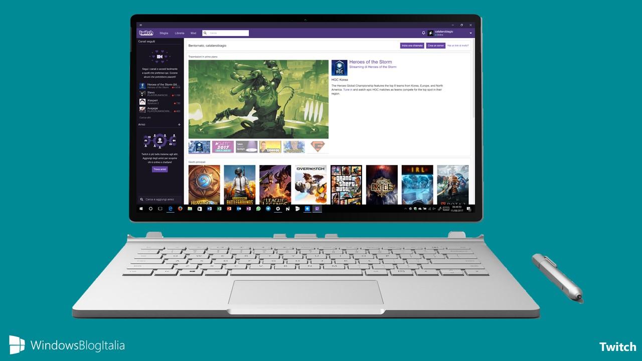Download Twitch, l'app della piattaforma di video streaming per PC e tablet Windows