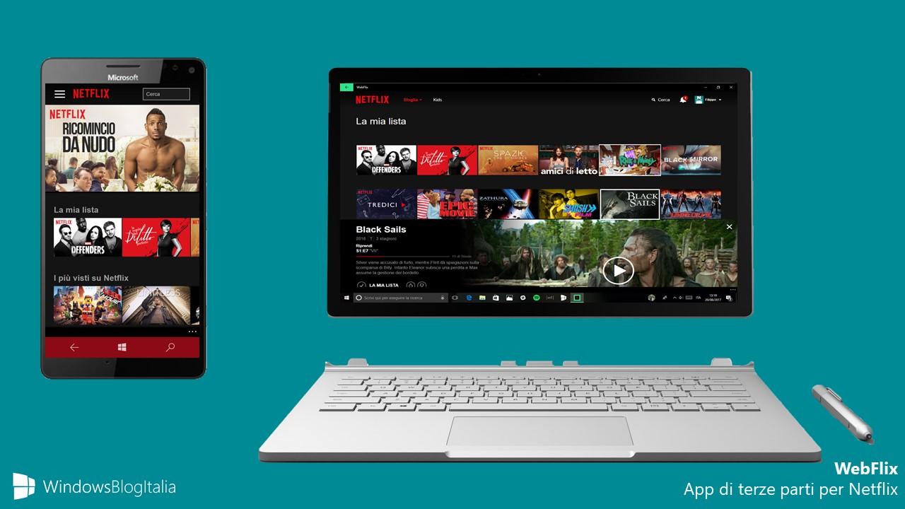 WebFlix app Netflix Windows 10
