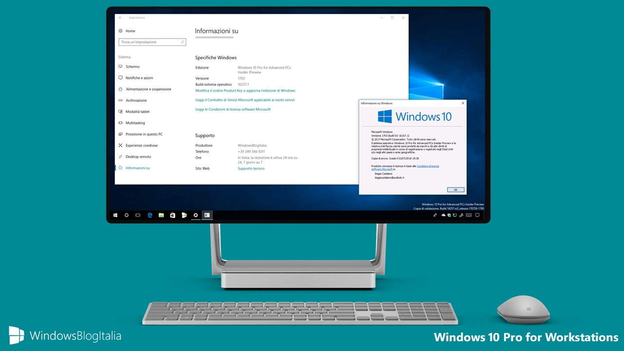 Come installare e attivare windows 10 pro for workstation for Window 10 pro