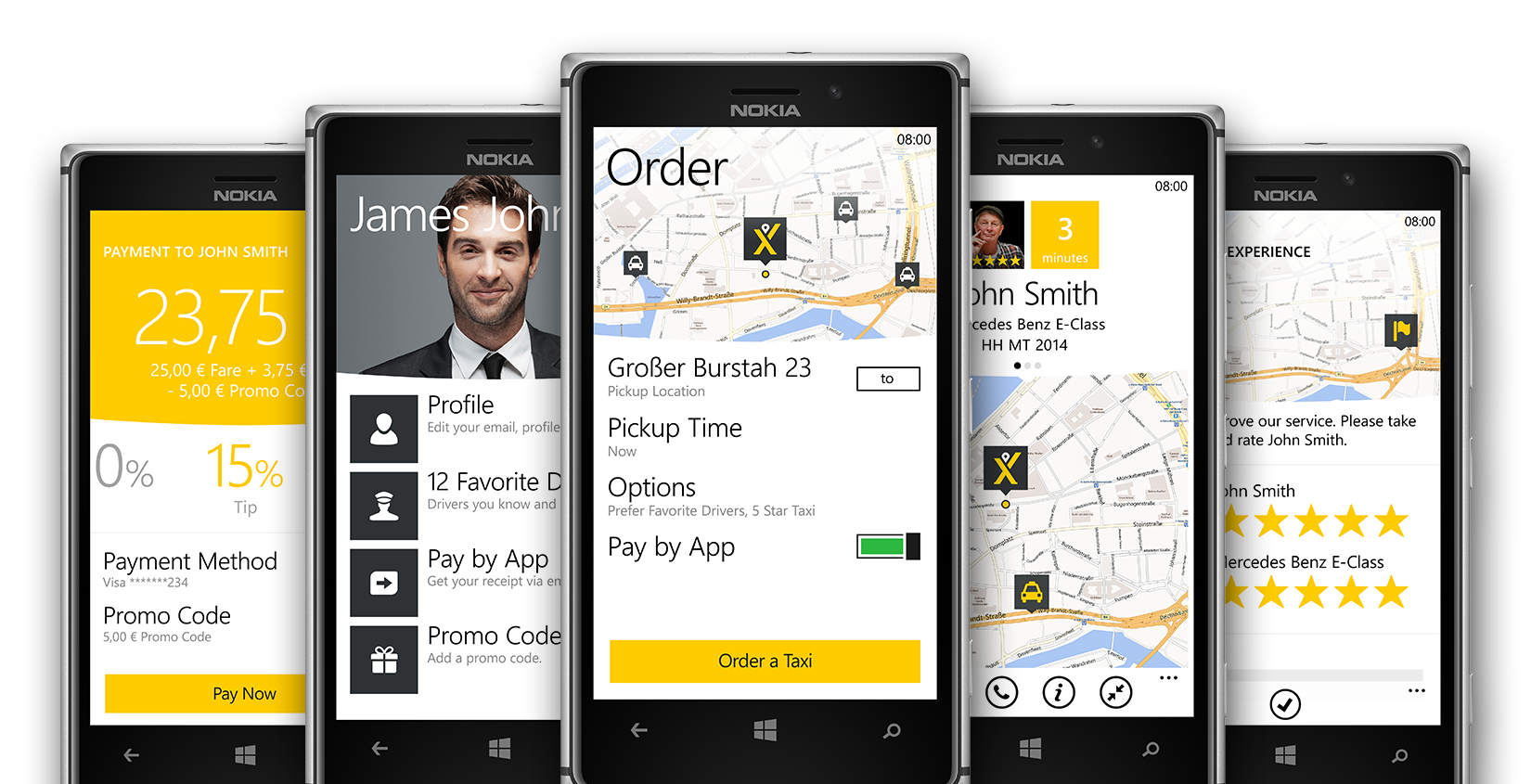 Anche mytaxi per windows mobile verr dismessa dall 39 1 for Window design app