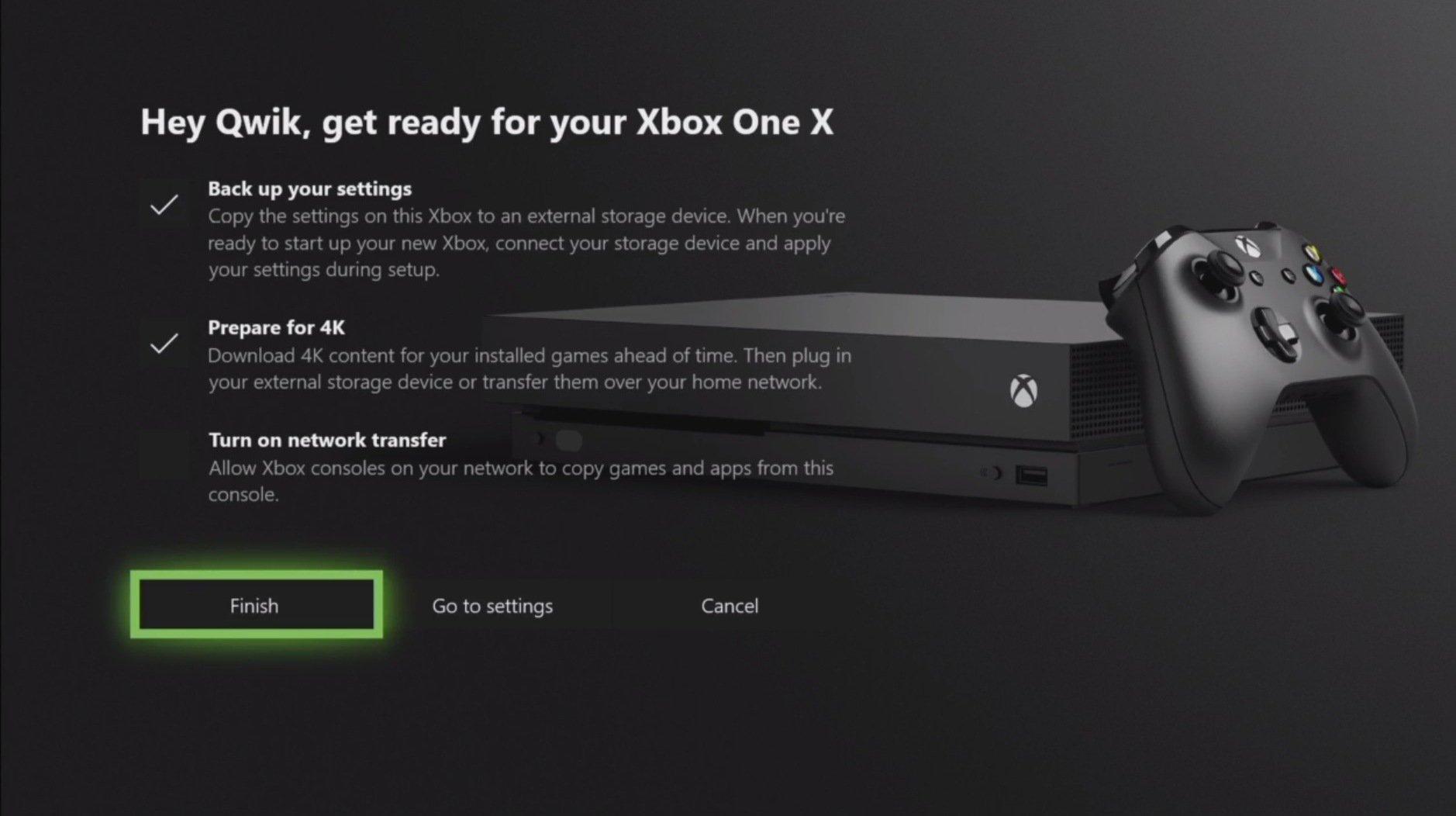 Passaggio da Xbox One