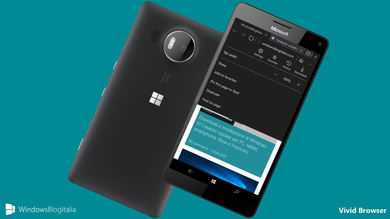 4f60ab92d8bc0 ... di terze parti che riprende in molti aspetti grafici la controparte  desktop Microsoft Edge di Windows 10