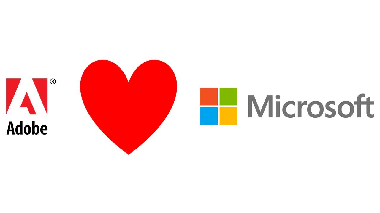 Microsoft e Adobe annunciano una nuova partnership