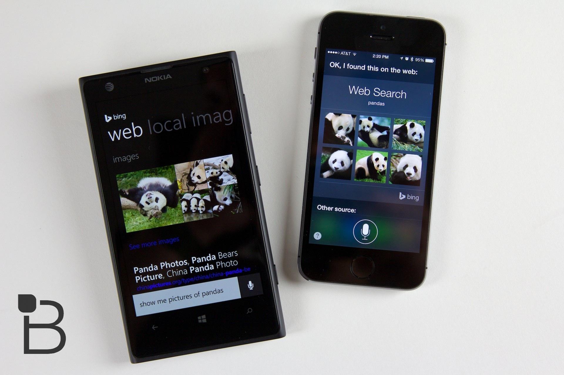 Apple Siri Bing Microsoft Google