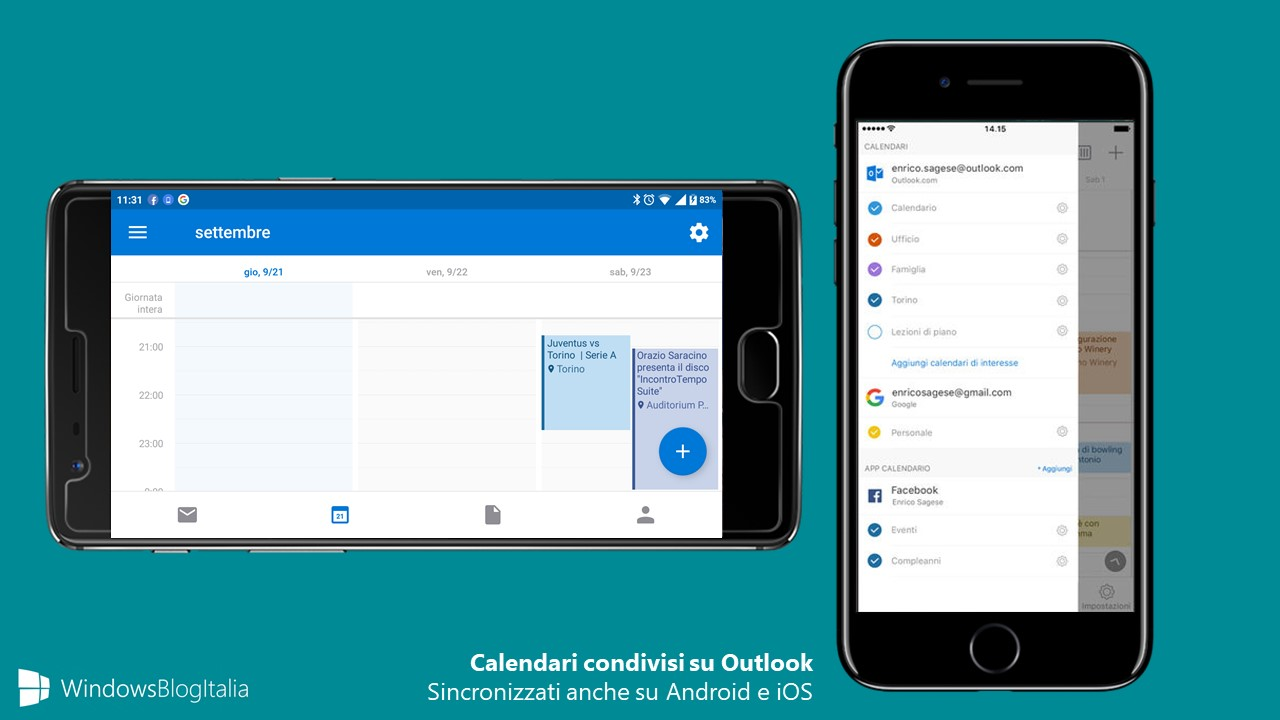 Sincronizzare Calendario Outlook Android.Calendari Condivisi Outlook Disponibili Su Ios E Android In