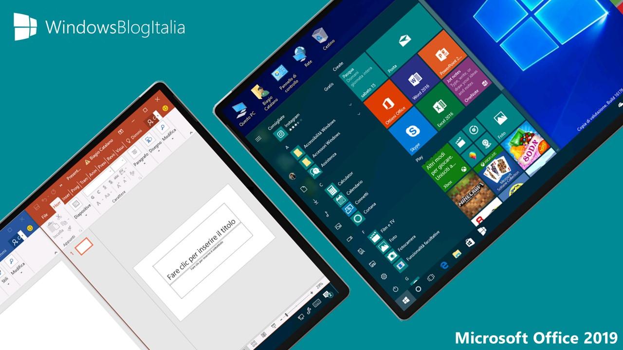 Microsoft annuncia Office 2019