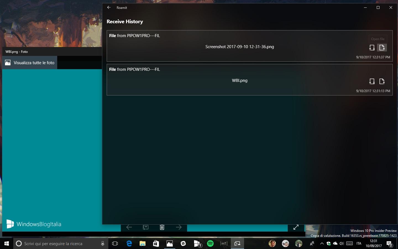 Roamit app Windows 10 Android clipboard universale 4