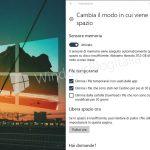 Sensore memoria Windows 10 Fall Creators 1