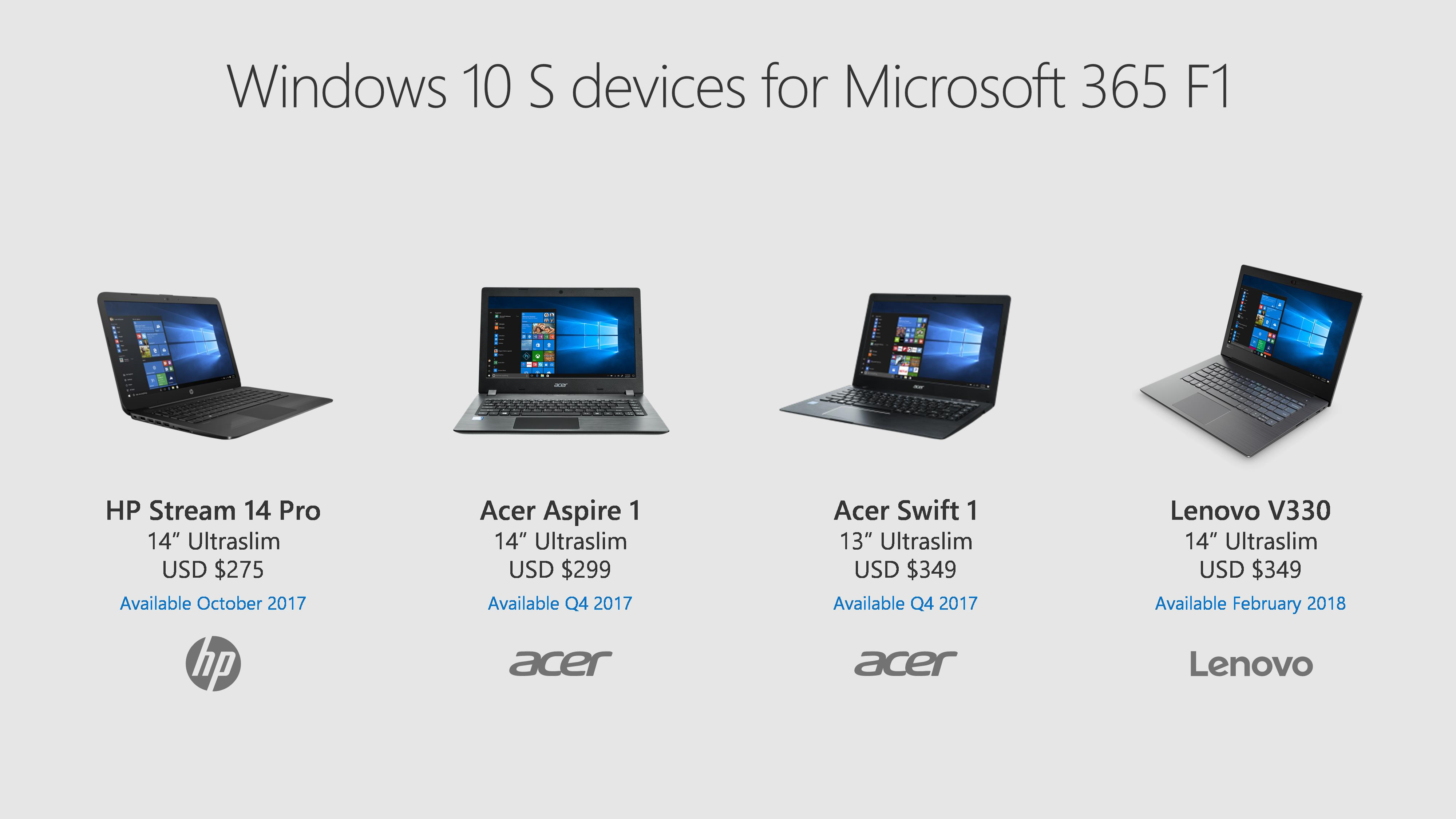 Windows 10 S e Microsoft 365 Education