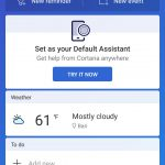Cortana per Android scheda To Do