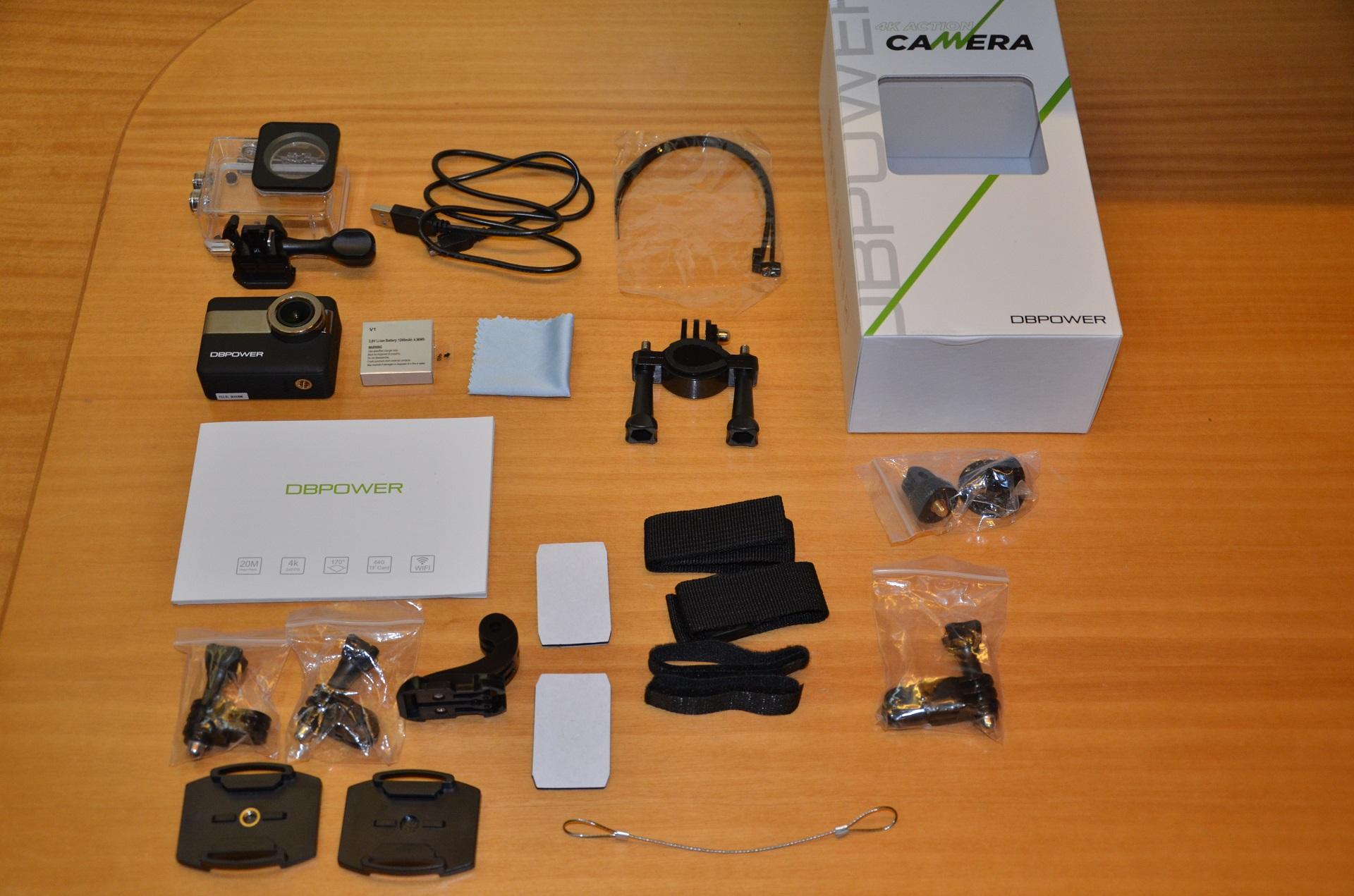 DBPower N6 unboxing accessori
