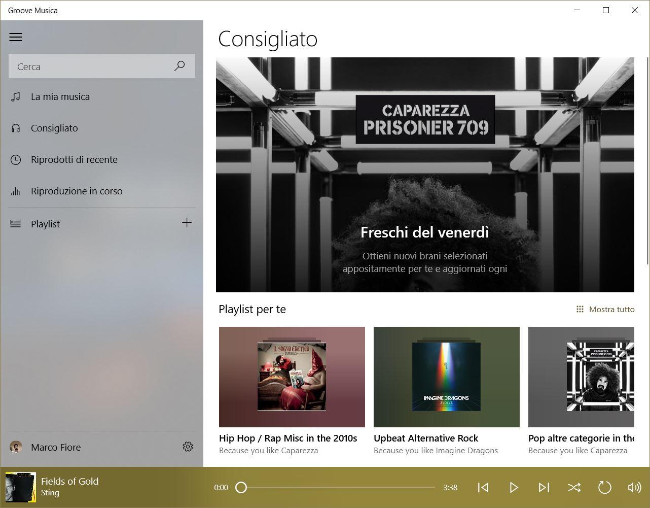 Trasferire playlist da Groove Musica a Spotify
