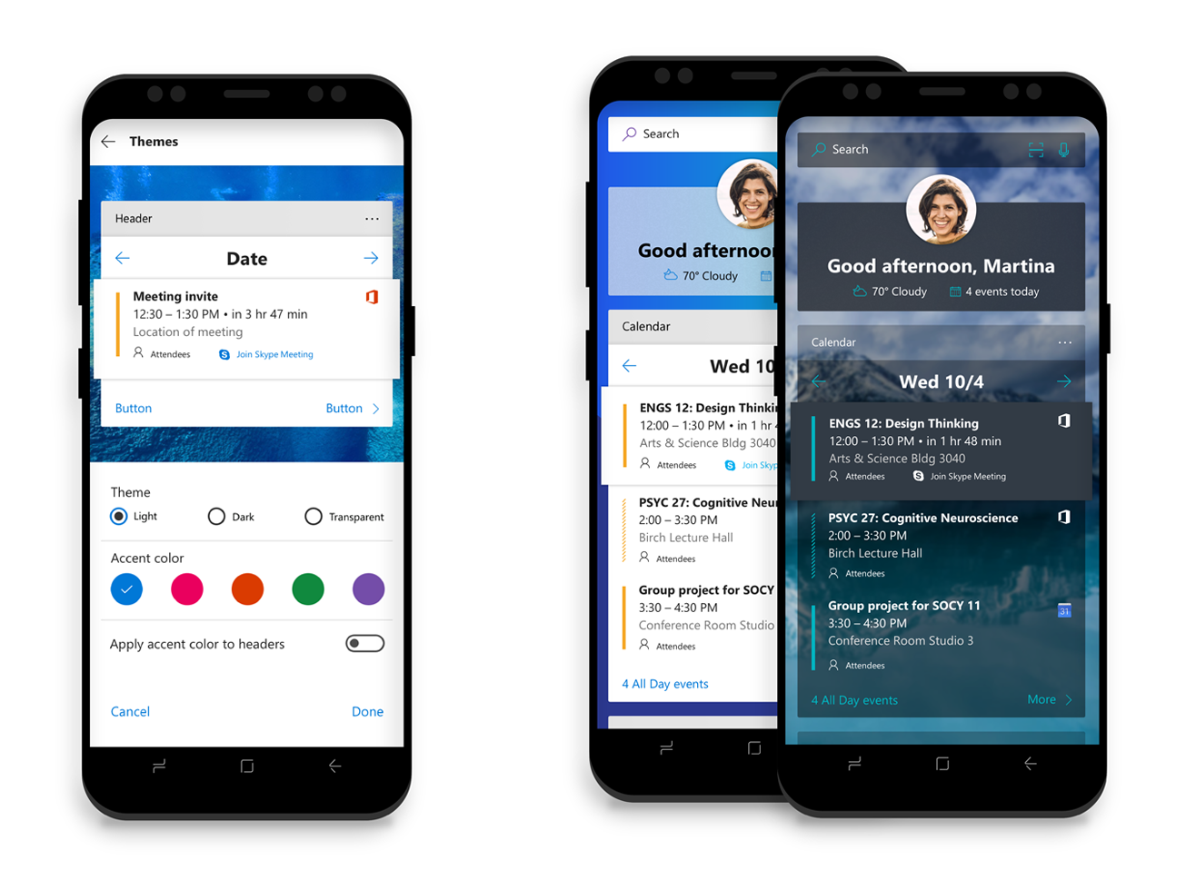 Microsoft Launcher per Android feed