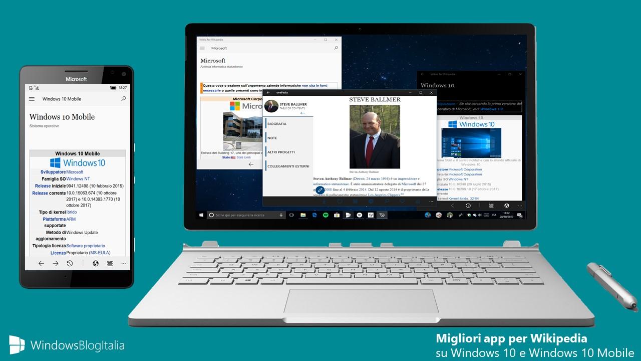 Migliori app Wikipedia Windows 10 Mobile