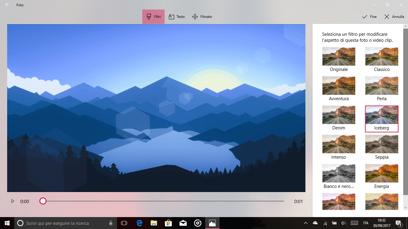 Story Remix Windows 10 Fall Creators Update editor filtri clip