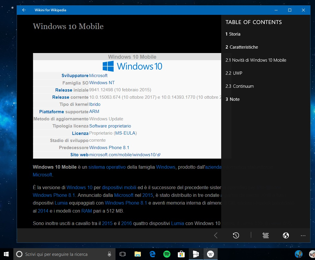 Wikini for Wikipedia app Windows 10
