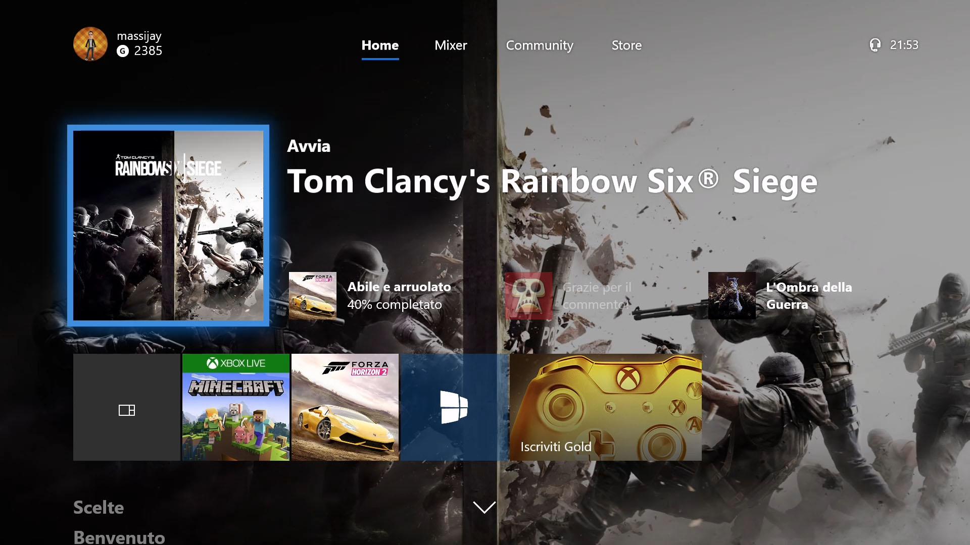 Windows 10 Fall Creators Update Xbox One dashboard Fluent Design