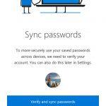 Microsoft Edge per Android sincronizzazione password 1