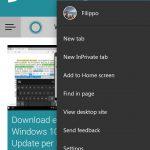 Microsoft Edge per Android tema scuro 3