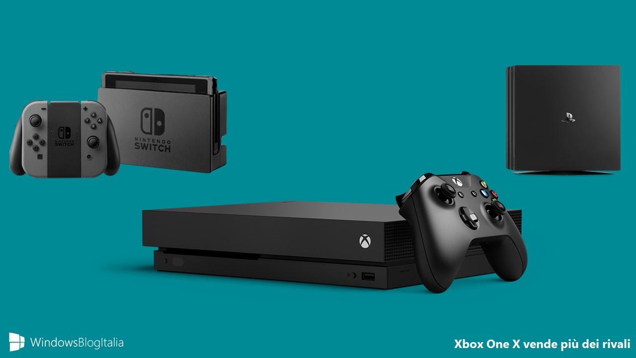Xbox One X vendite PlayStation 4 Pro Nintendo Switch