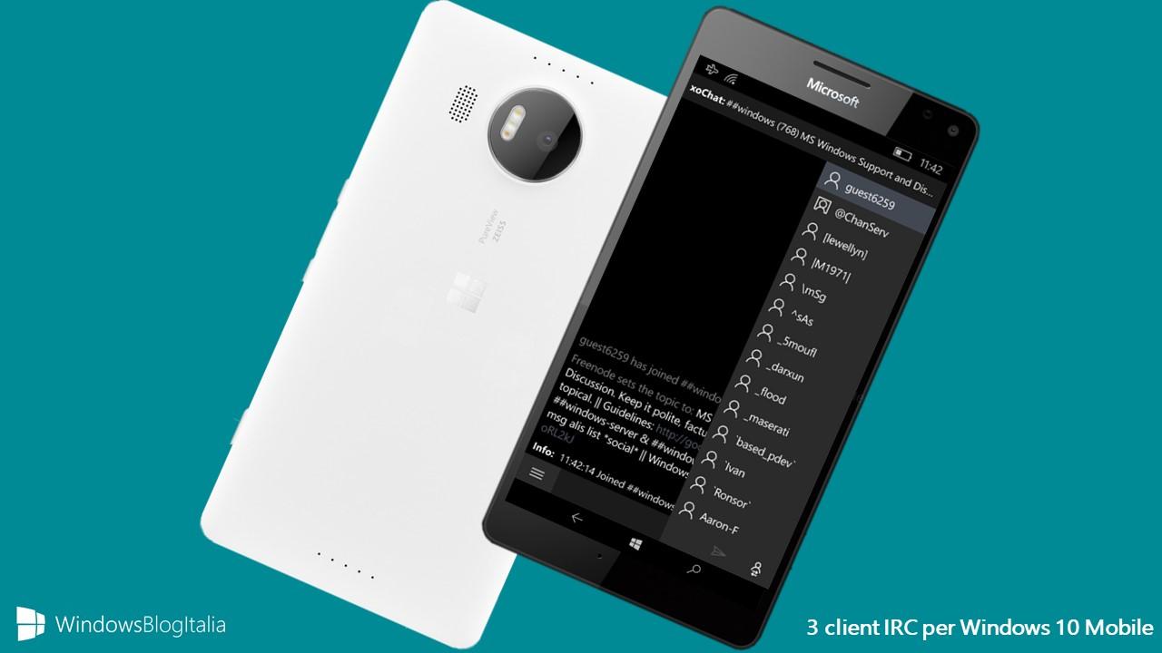 Client IRC Windows Phone