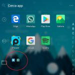 Microsoft Launcher Android 4.4 cartella app drawer