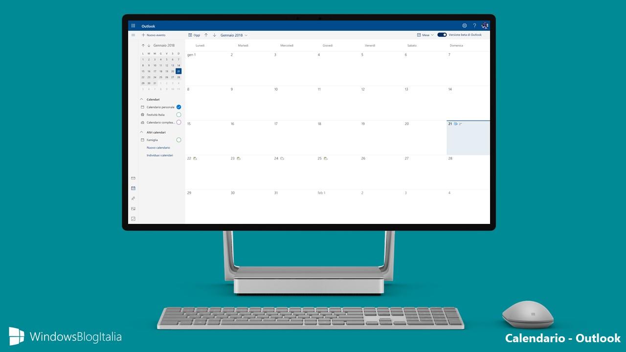 Calendario Outlook.Nuovo Look E Nuove Funzionalita Per Il Calendario Di Outlook Com