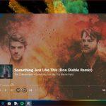 Groove Musica nuovo font schermata riproduzione in corso