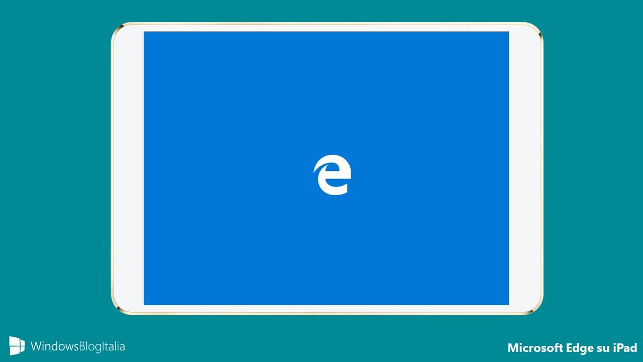 Microsoft Edge su iPad
