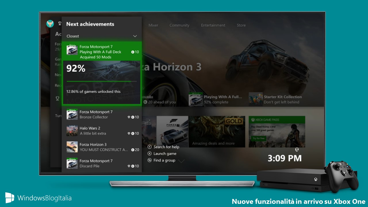 Nuove funzionalità Xbox One Windows 10 2018