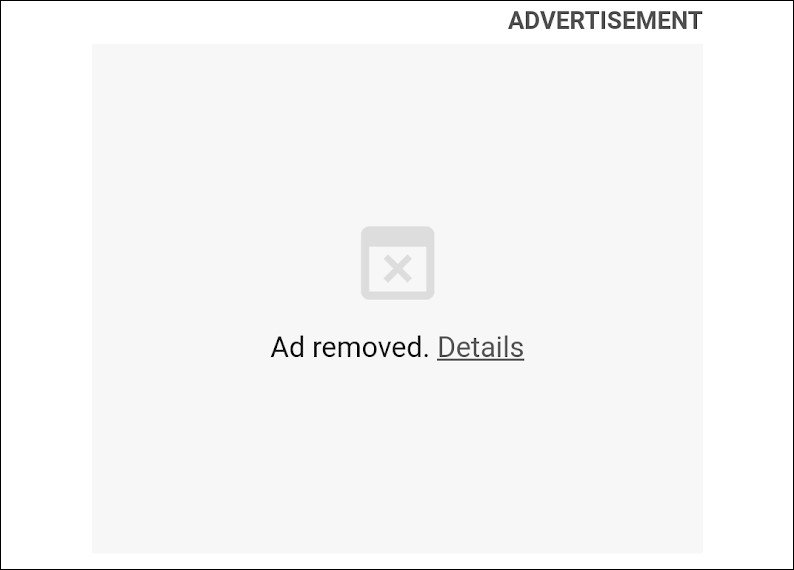 Annuncio pubblicitario non caricato in Google Chrome 85