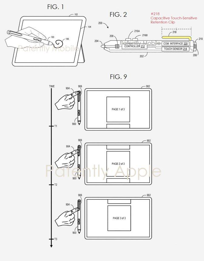 Brevetto Microsoft Smart pen clip